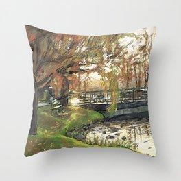 Charles River Esplanade 3 Throw Pillow