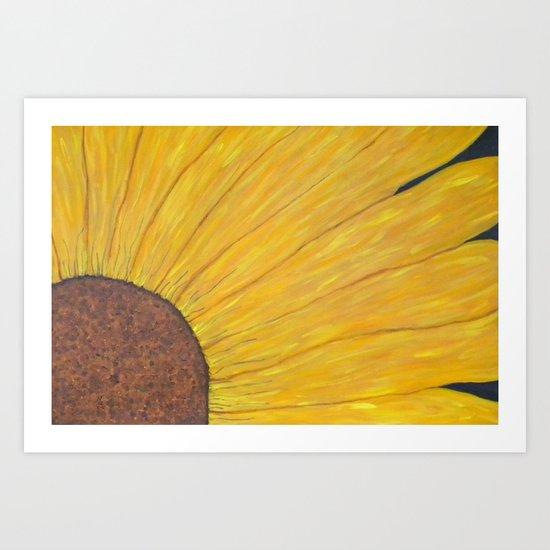 Bloom of Gold Art Print