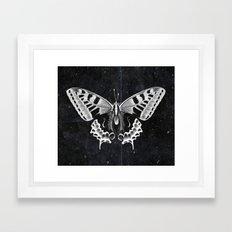 Butterfly in the stars Framed Art Print