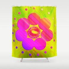Mandala Pink Daisy Shower Curtain