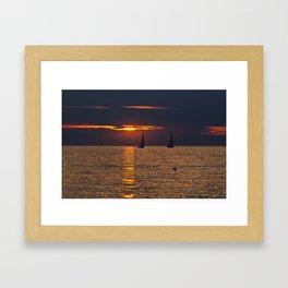BALTIC SUNSET SOUND Framed Art Print