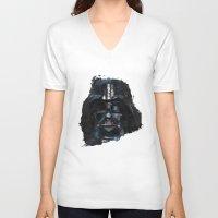 darth vader V-neck T-shirts featuring Darth Vader by BarLevitsky