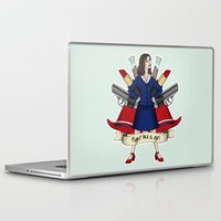 peggy carter Laptop & iPad Skins featuring Fight like a Girl - Peggy Carter by HayPaige