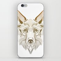 coyote iPhone & iPod Skins featuring Coyote by Kirsten Allen