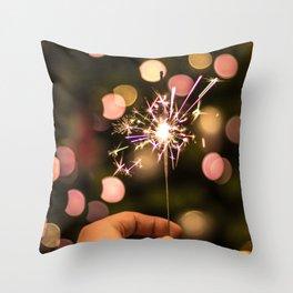 Sparkler (Color) Throw Pillow