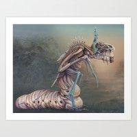 The Worm King Art Print