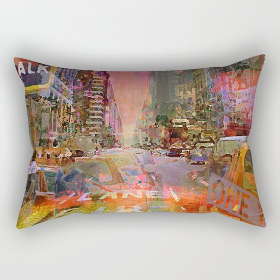traffic jam pink Rectangular Pillow