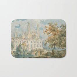 "J.M.W. Turner ""Clare Hall and King's College Chapel, Cambridge, from the Banks of the River Cam"" Bath Mat"
