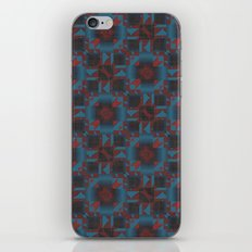 Red and blue Geometric iPhone & iPod Skin