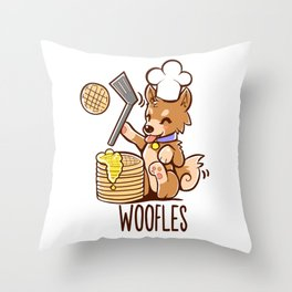 Im Making Woofles Throw Pillow