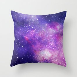 Space Nebula Galaxy Stars Throw Pillow