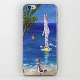 Easter Bunny at the Beach iPhone Skin