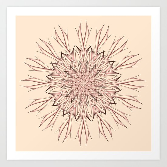 Mandala pastel Art Print