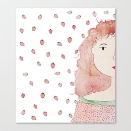 Strawberry Lady Canvas Print
