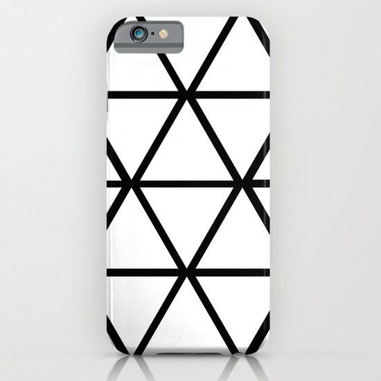 WHITE & BLACK TRIANGLES  iPhone & iPod Case
