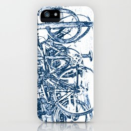 Blue Bicycles iPhone Case