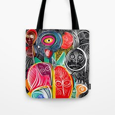 Black World Street Art Graffiti Urban Pop Tote Bag