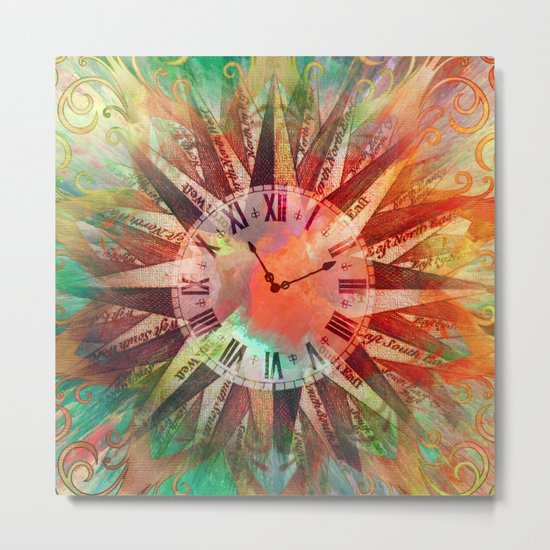 Synchronicity 11:11 Clock Face Time Design Metal Print