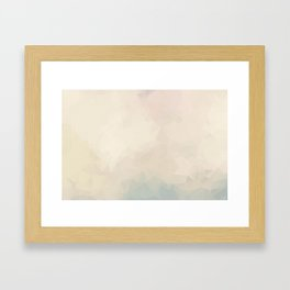 Simple Cream Colored Abstract Polygons Framed Art Print