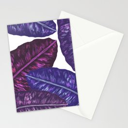 Tropical Leaves - Ultra Violet 1 Stationery Cards