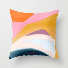 Let Go - no.36 Shapes and Layers Throw Pillow