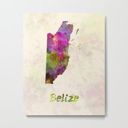 Belize in watercolor Metal Print