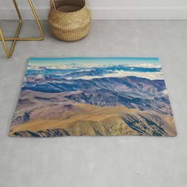 Andes Mountains Aerial View, Chile Rug
