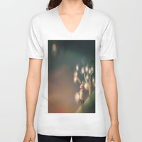 lanterns V-neck T-shirts featuring Lanterns by Claire Westwood illustration