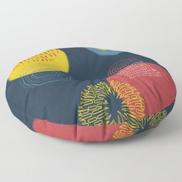 Colour and pattern - Abstract 1 Floor Pillow