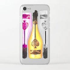 Ace of Spades Champagne Clear iPhone Case