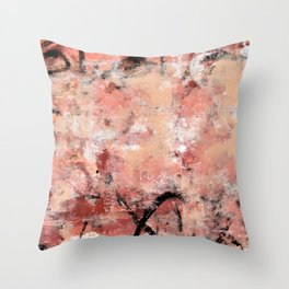 011.2: a bright contemporary abstract design in pinks black and white by Alyssa Hamilton Art Throw Pillow
