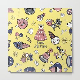 Jelly Party (Yellow) Metal Print