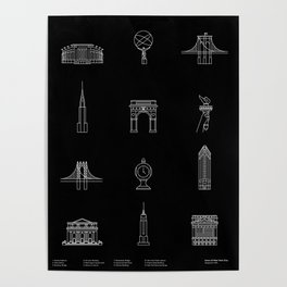 New York City Icons Poster