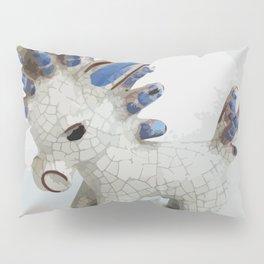 Modern Donkey Illustration with blue hair Pillow Sham