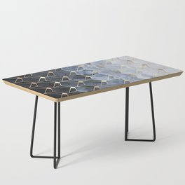 Blue Hexagons And Diamonds Coffee Table