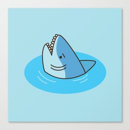 Shark Puddle Canvas Print