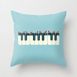 The Penguin Choir Throw Pillow