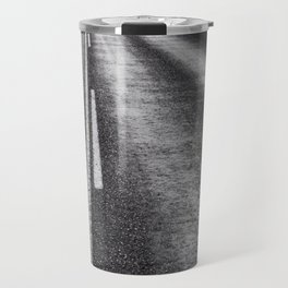 From Here to Eternity; the Road up Ahead of You black and white photography - photographs Travel Mug