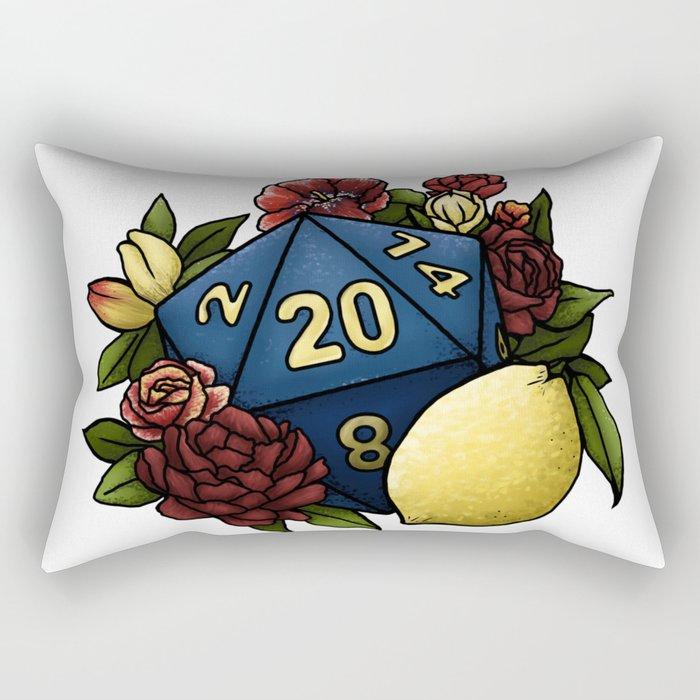 Marsala Lemon D20 Tabletop RPG Gaming Dice Rectangular Pillow