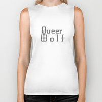 queer Biker Tanks featuring Queer Wolf by Hello Free Spirits