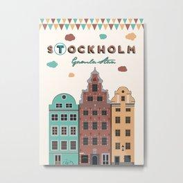 Stockholm. Gamla Stan Metal Print