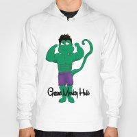 grease Hoodies featuring Grease Monkey Hulk by devinternet