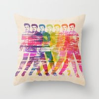 elvis presley Throw Pillows featuring Elvis Presley by manish mansinh