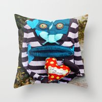 cycle Throw Pillows featuring Cycle by Johanna Ochs