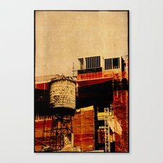 New York water tower Canvas Print