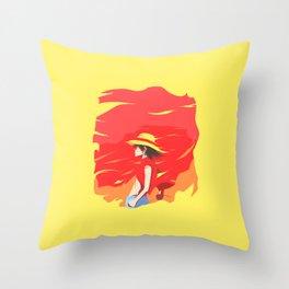 Monkey D Luffy Throw Pillow