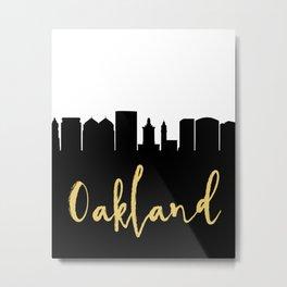 OAKLAND CALIFORNIA DESIGNER SILHOUETTE SKYLINE ART Metal Print
