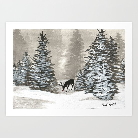 Christmas Moment Art Print