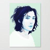 ezra koenig Canvas Prints featuring Ezra Miller by Electra Sinclair