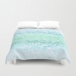 Aqua Seafoam Ocean Glitter #1 #shiny #pastel #decor #art #society6 Duvet Cover